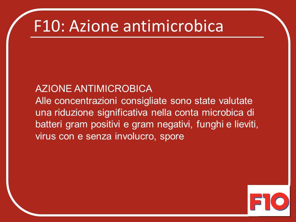 F10: Azione antimicrobica