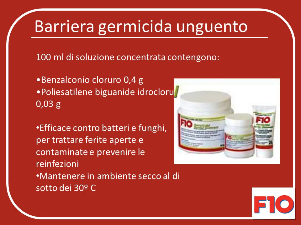 Barriera germicida unguento