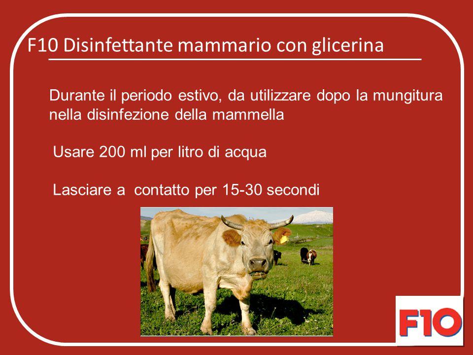 F10 Disinfettante mammario con glicerina