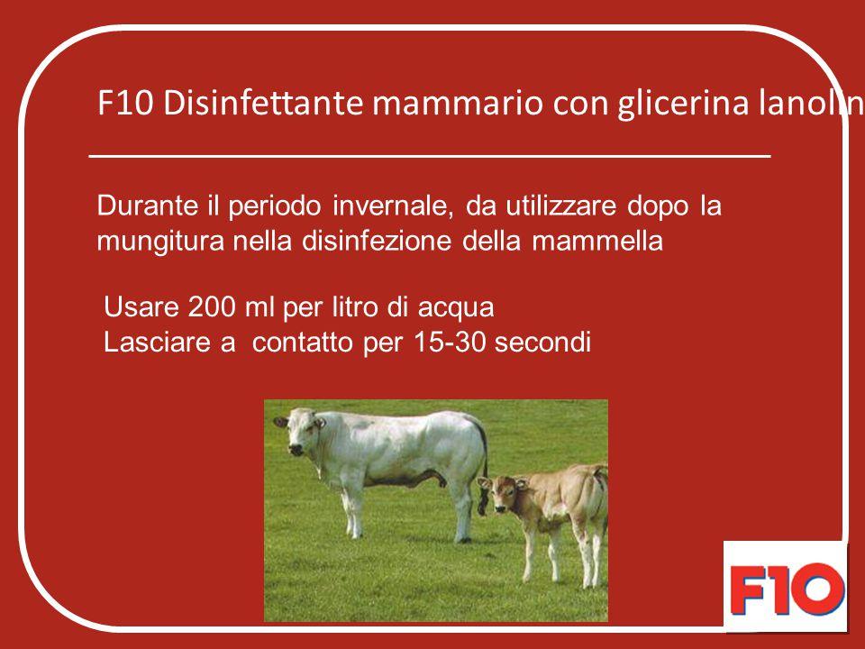 F10 Disinfettante mammario con glicerina lanolina