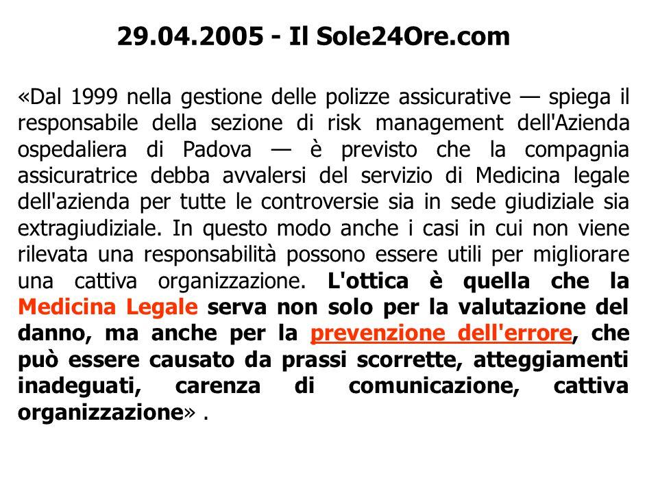 29.04.2005 - Il Sole24Ore.com