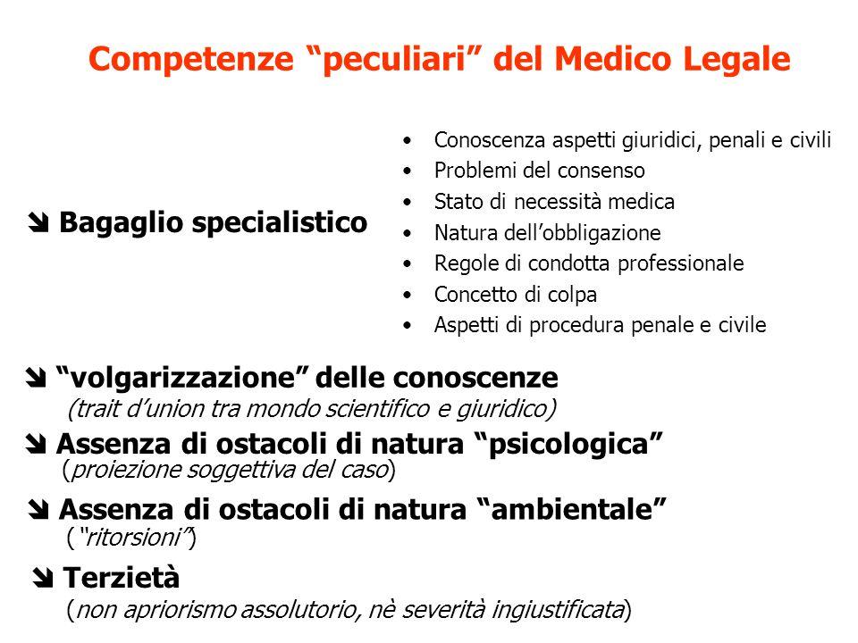 Competenze peculiari del Medico Legale