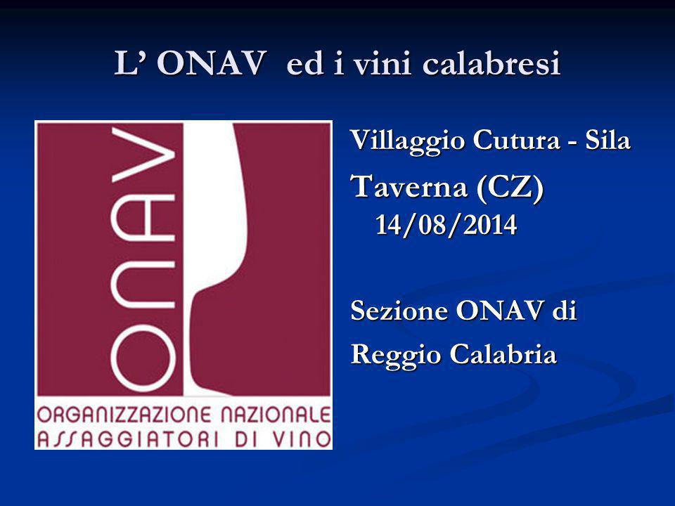 L' ONAV ed i vini calabresi