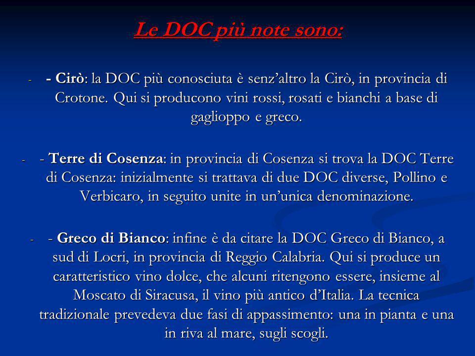 Le DOC più note sono: