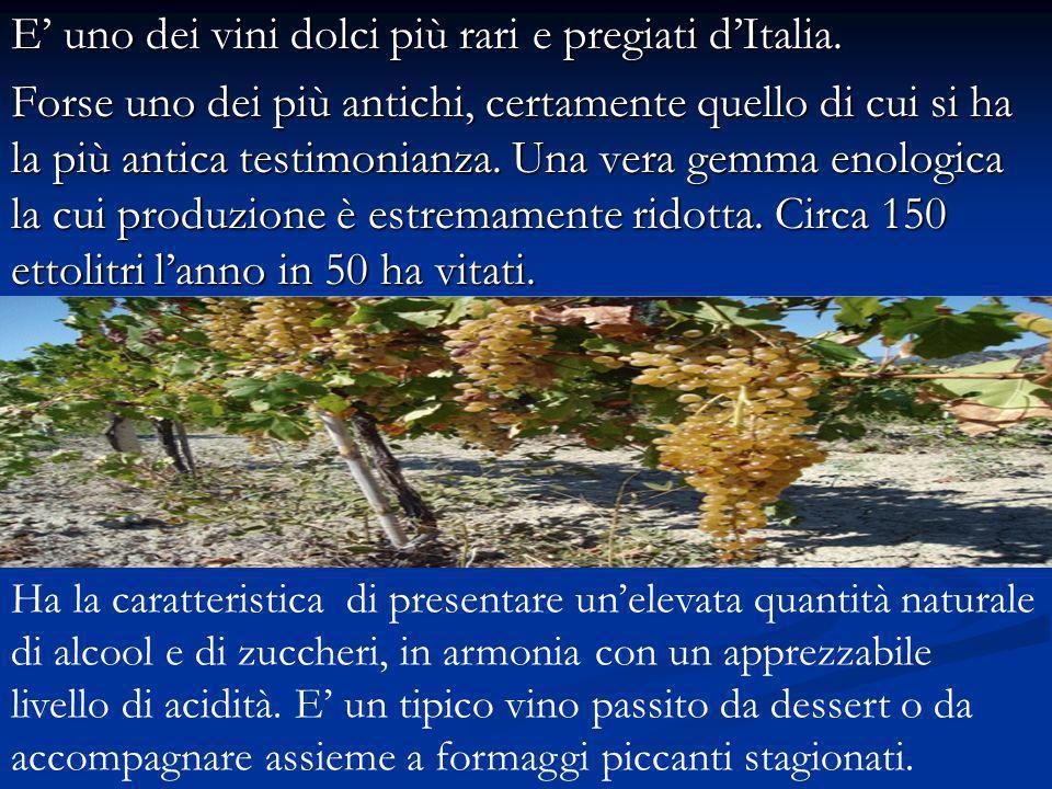 E' uno dei vini dolci più rari e pregiati d'Italia