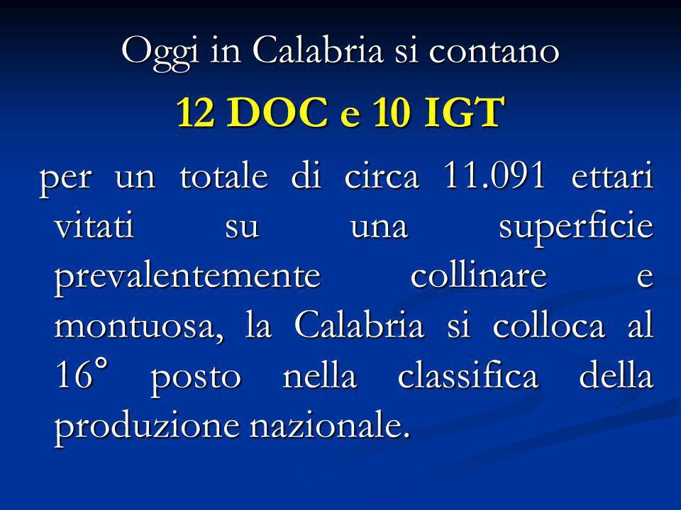 Oggi in Calabria si contano