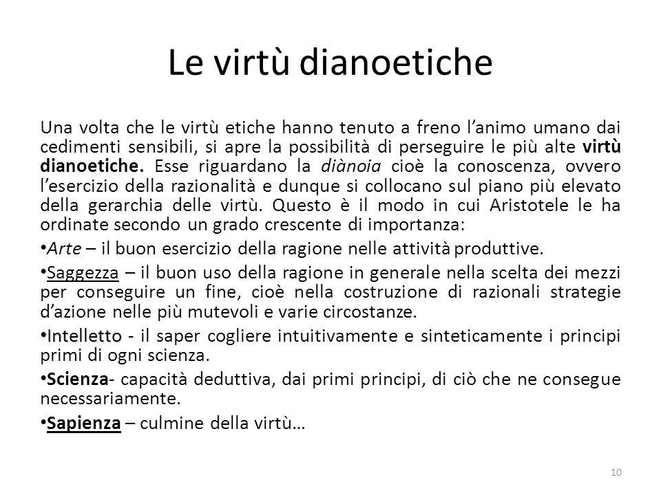Le virtù dianoetiche