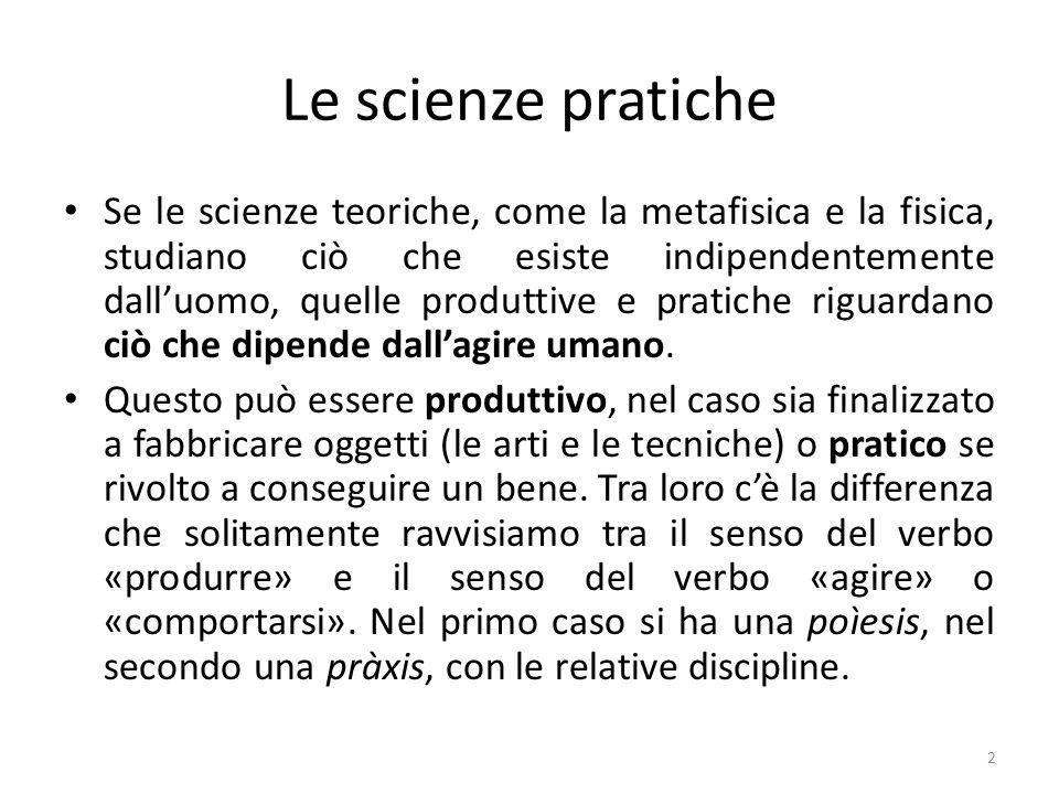 Le scienze pratiche