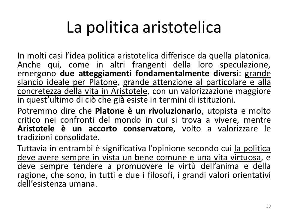 La politica aristotelica