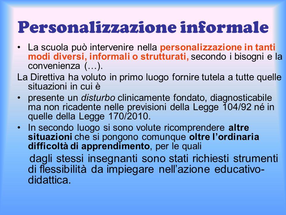 Personalizzazione informale