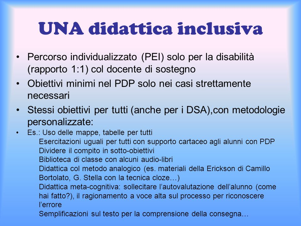 UNA didattica inclusiva