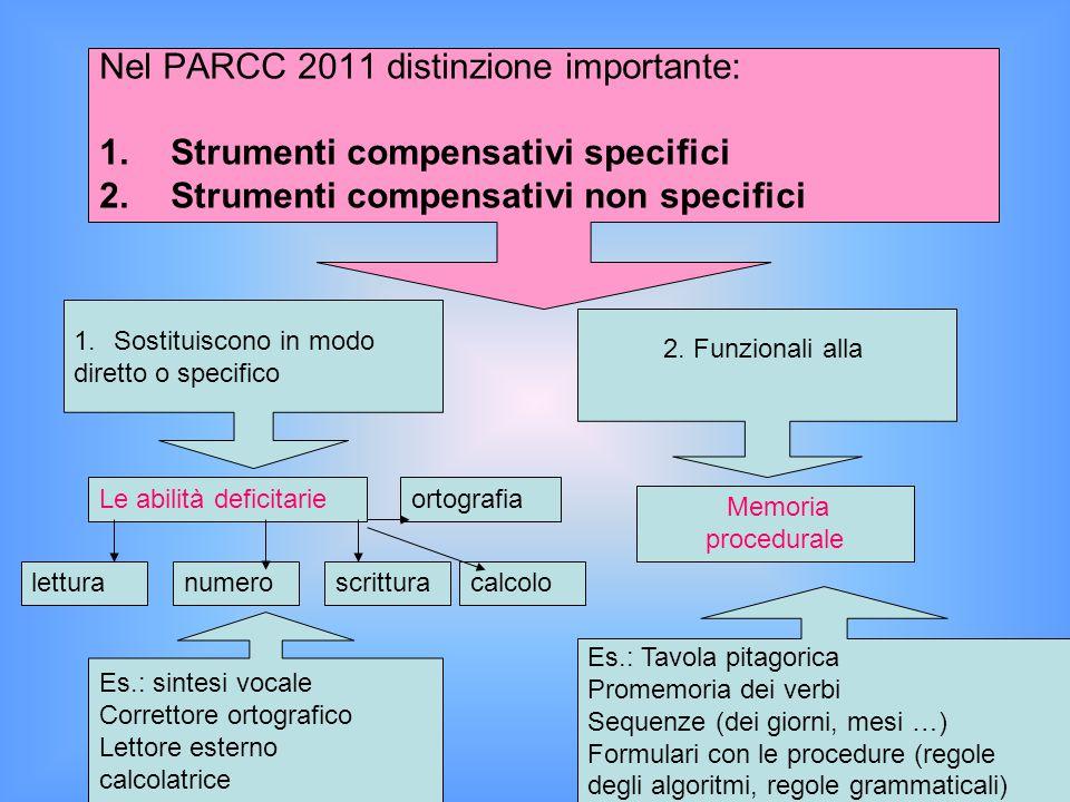 Nel PARCC 2011 distinzione importante: