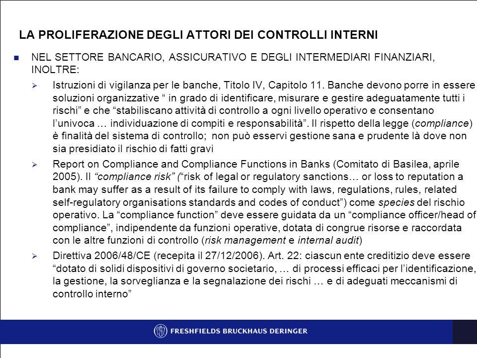 NEL SETTORE BANCARIO, ASSICURATIVO E DEGLI INTERMEDIARI FINANZIARI (SEGUE)