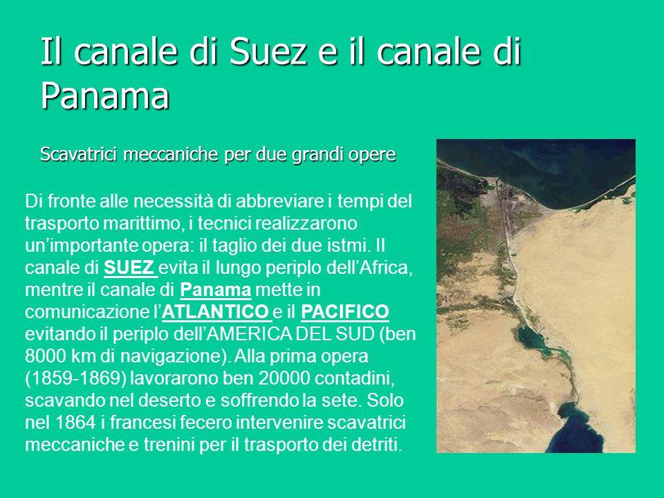 Il canale di Suez e il canale di Panama