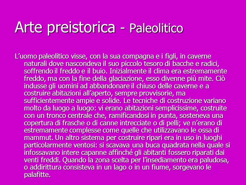 Arte preistorica - Paleolitico