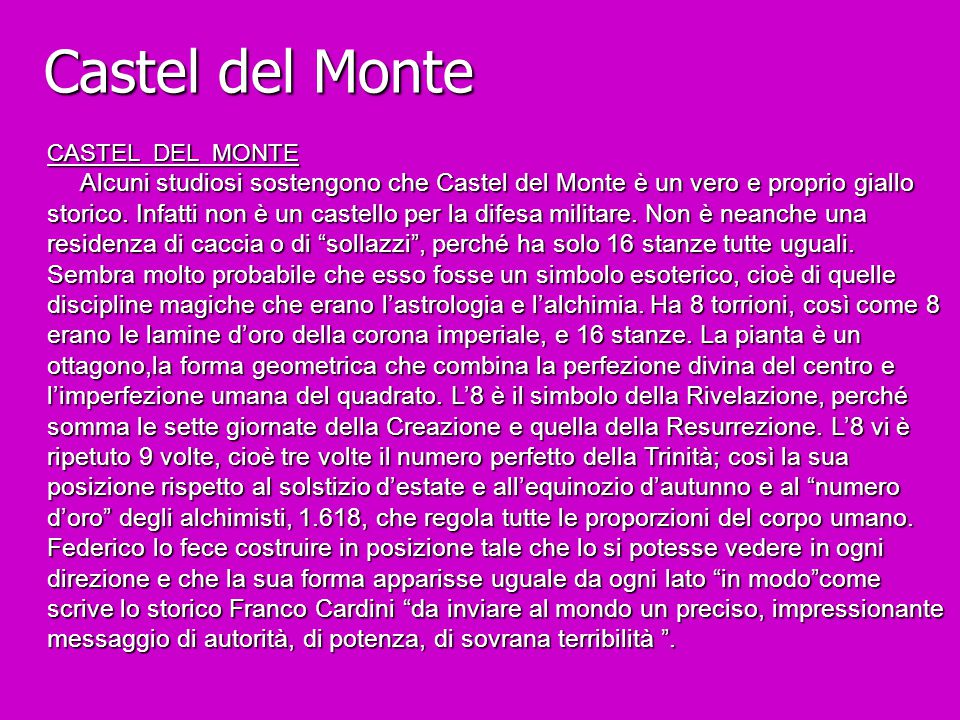 Castel del Monte CASTEL DEL MONTE