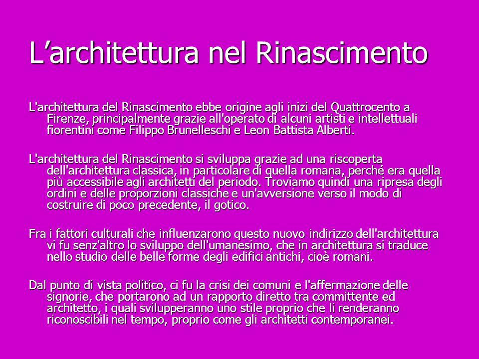 L'architettura nel Rinascimento
