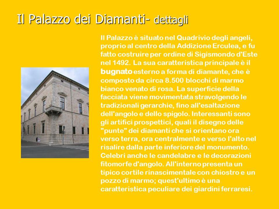 Il Palazzo dei Diamanti- dettagli