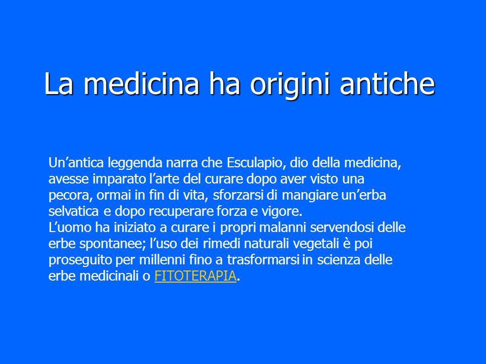 La medicina ha origini antiche