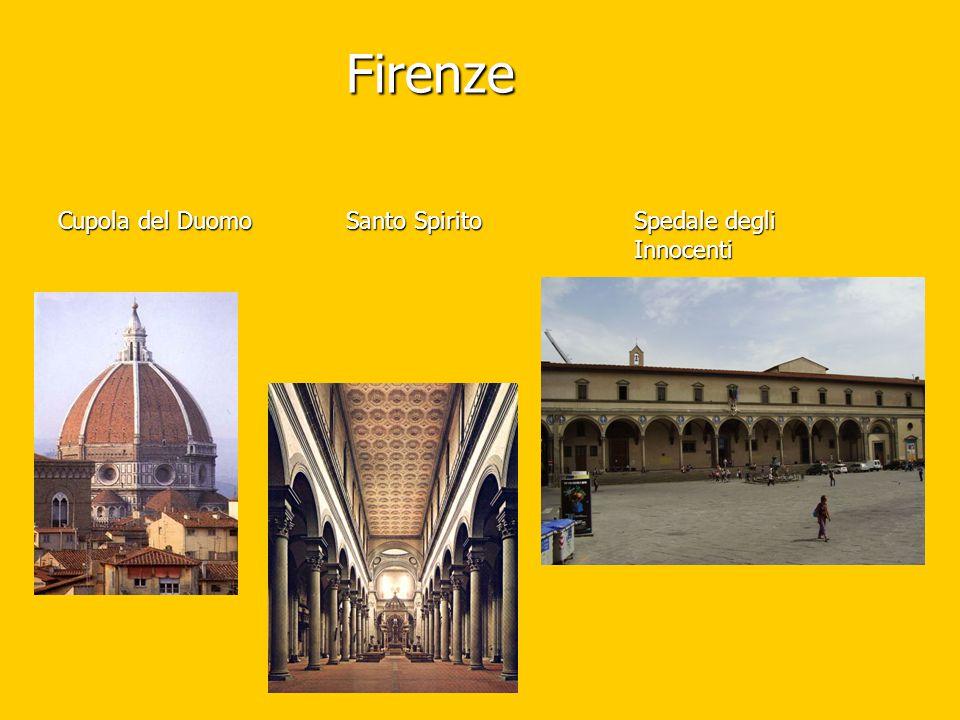 Firenze Cupola del Duomo Santo Spirito Spedale degli Innocenti