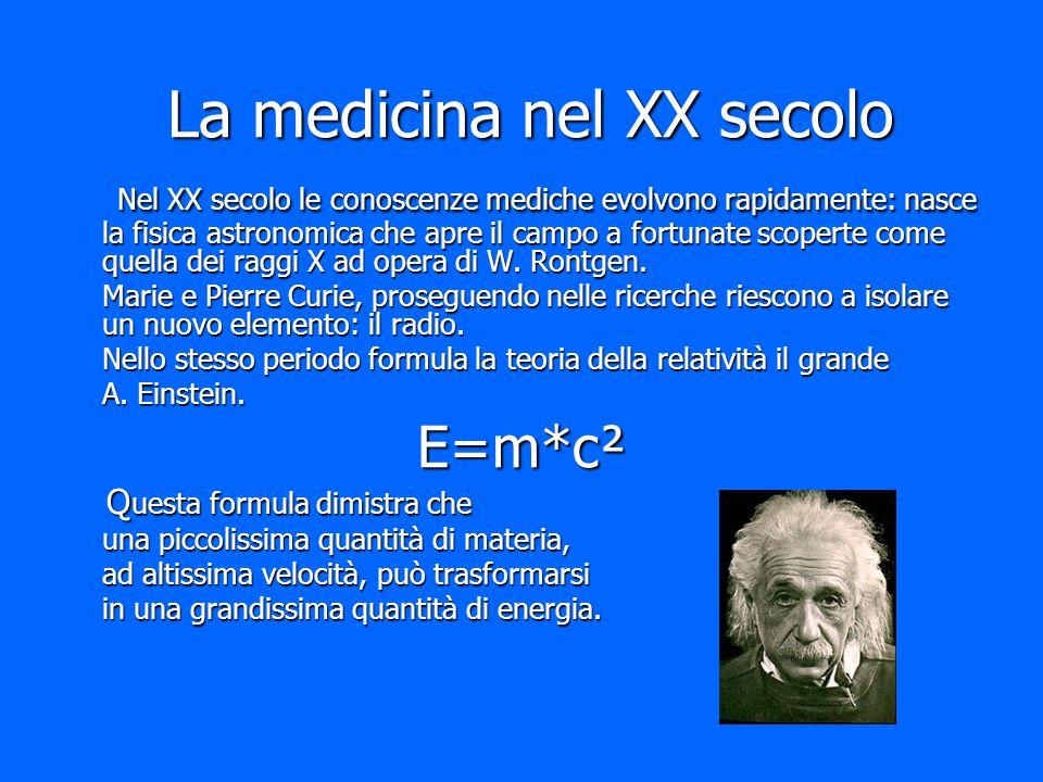 La medicina nel XX secolo