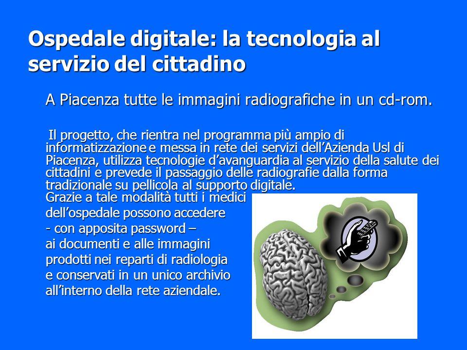 Ospedale digitale: la tecnologia al servizio del cittadino