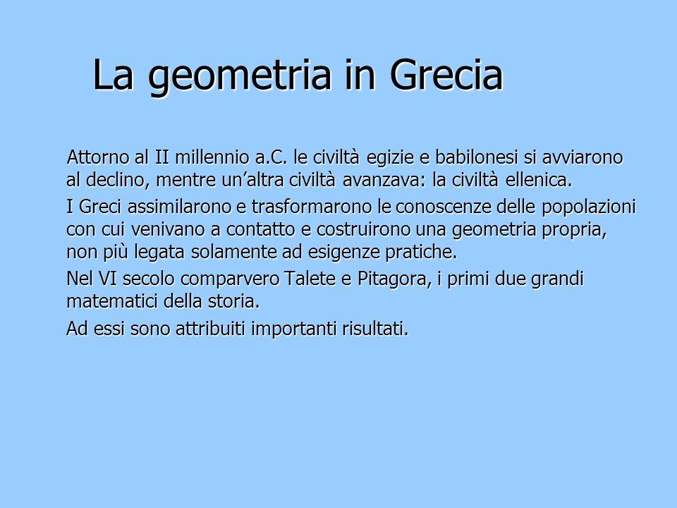 La geometria in Grecia
