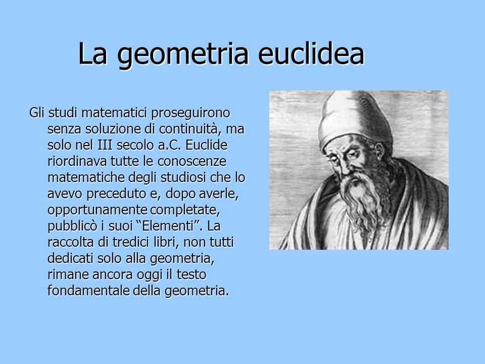 La geometria euclidea