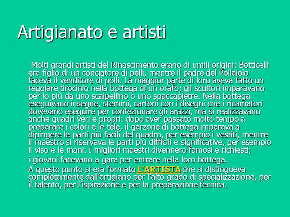 Artigianato e artisti
