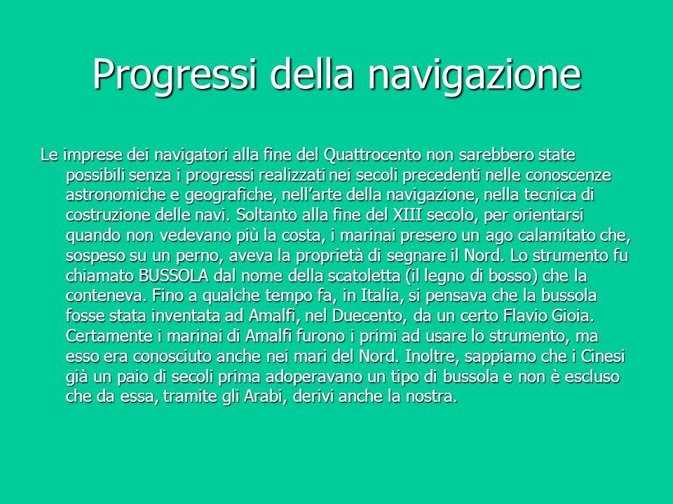 Progressi della navigazione