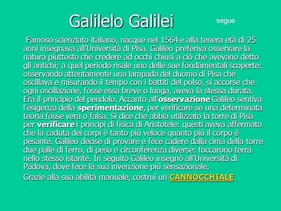 Galilelo Galilei segue.