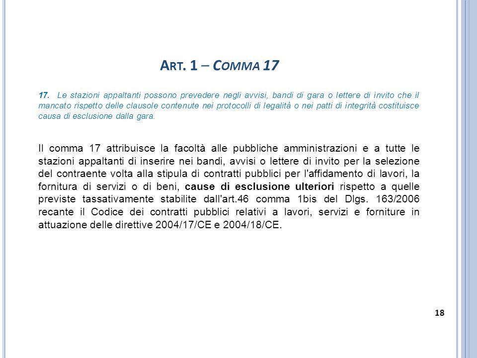 Art. 1 – Comma 17