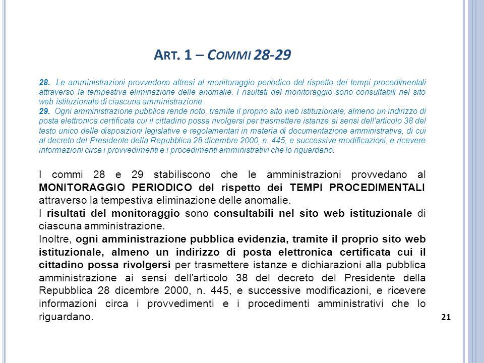 Art. 1 – Commi 28-29