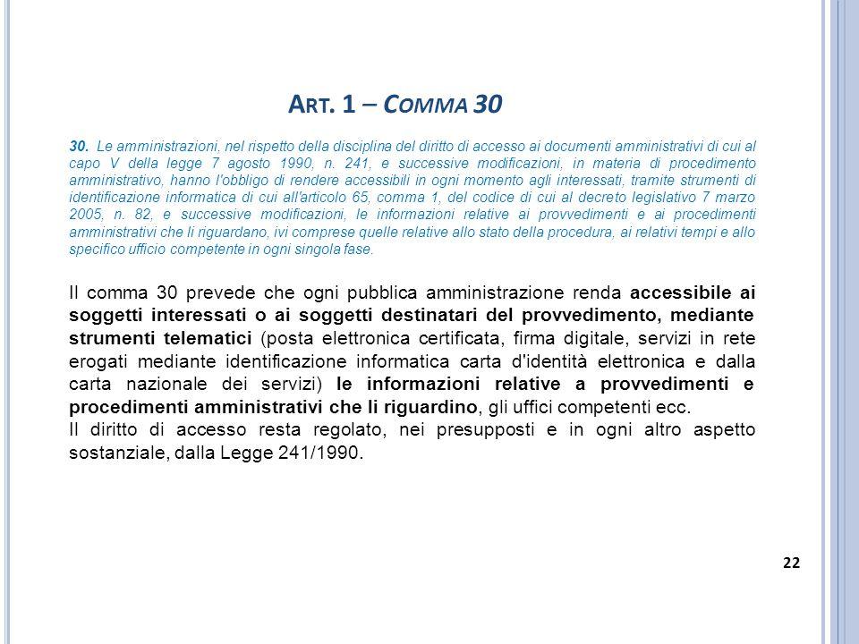 Art. 1 – Comma 30