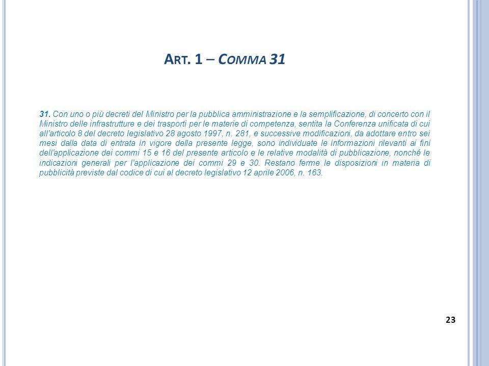 Art. 1 – Comma 31
