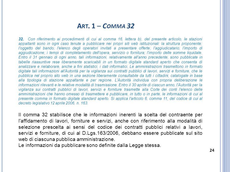 Art. 1 – Comma 32