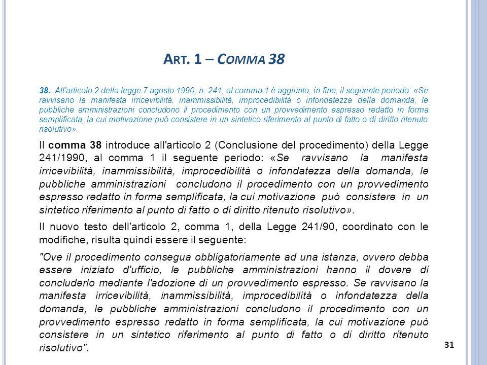 Art. 1 – Comma 38