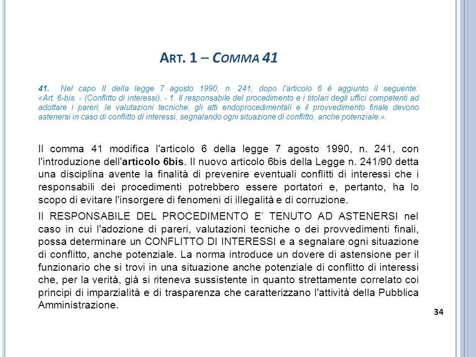 Art. 1 – Comma 41