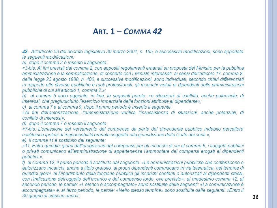 Art. 1 – Comma 42