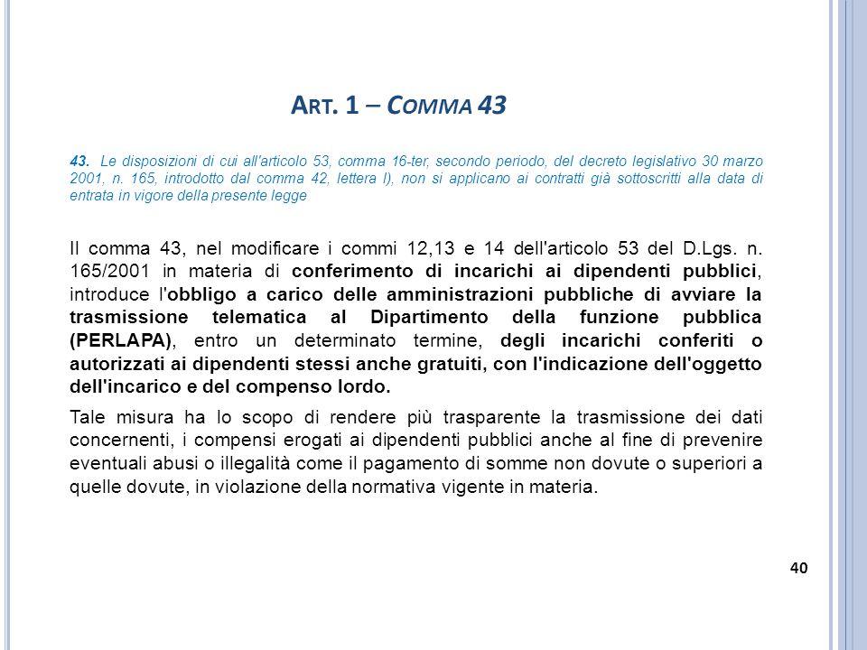 Art. 1 – Comma 43