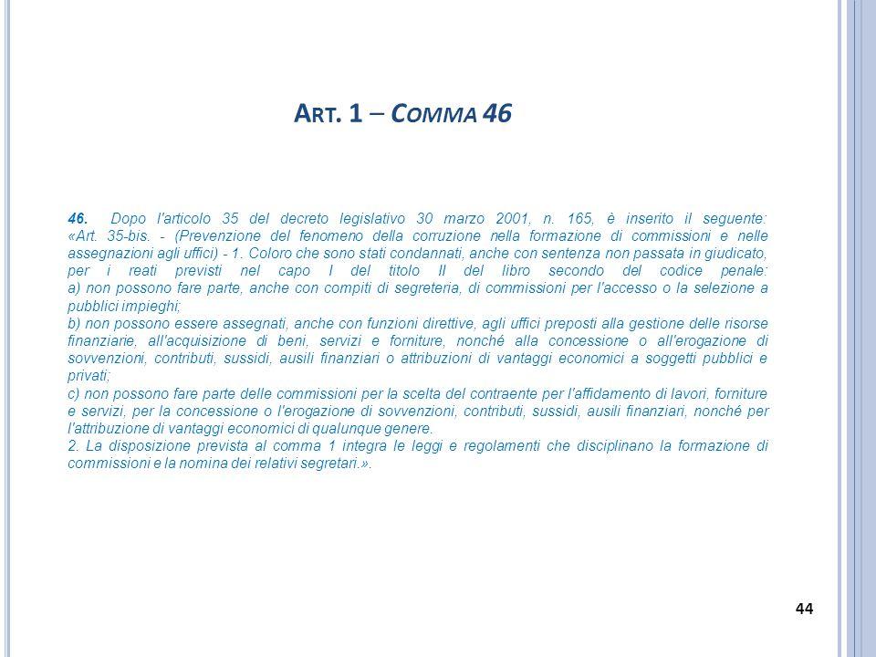 Art. 1 – Comma 46