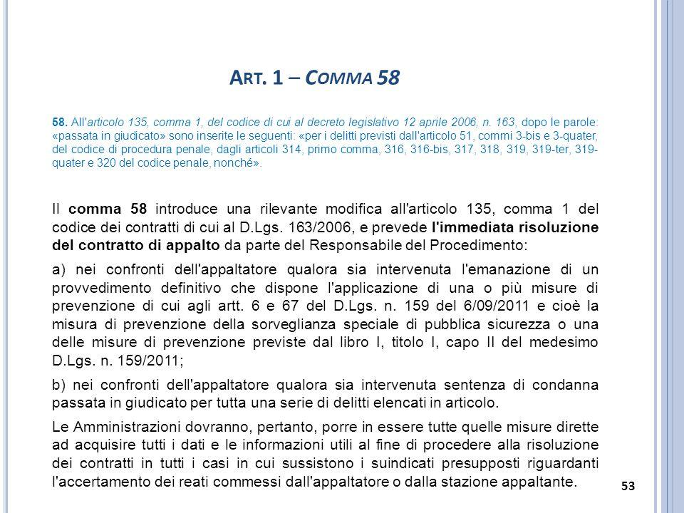 Art. 1 – Comma 58