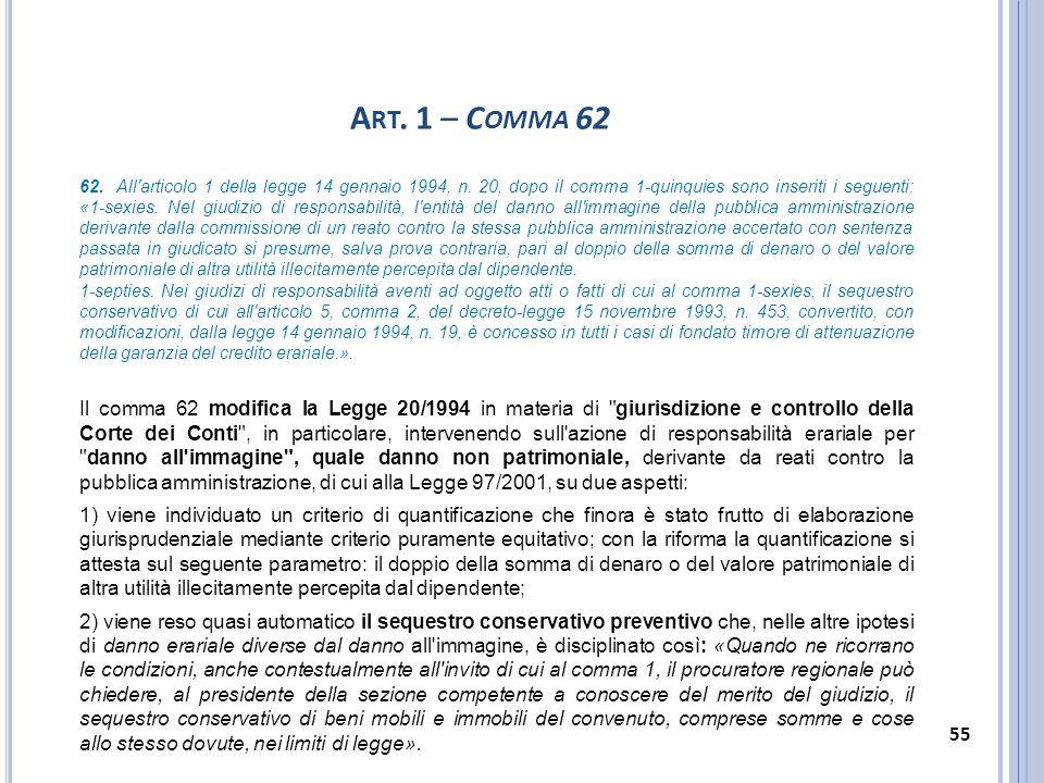 Art. 1 – Comma 62