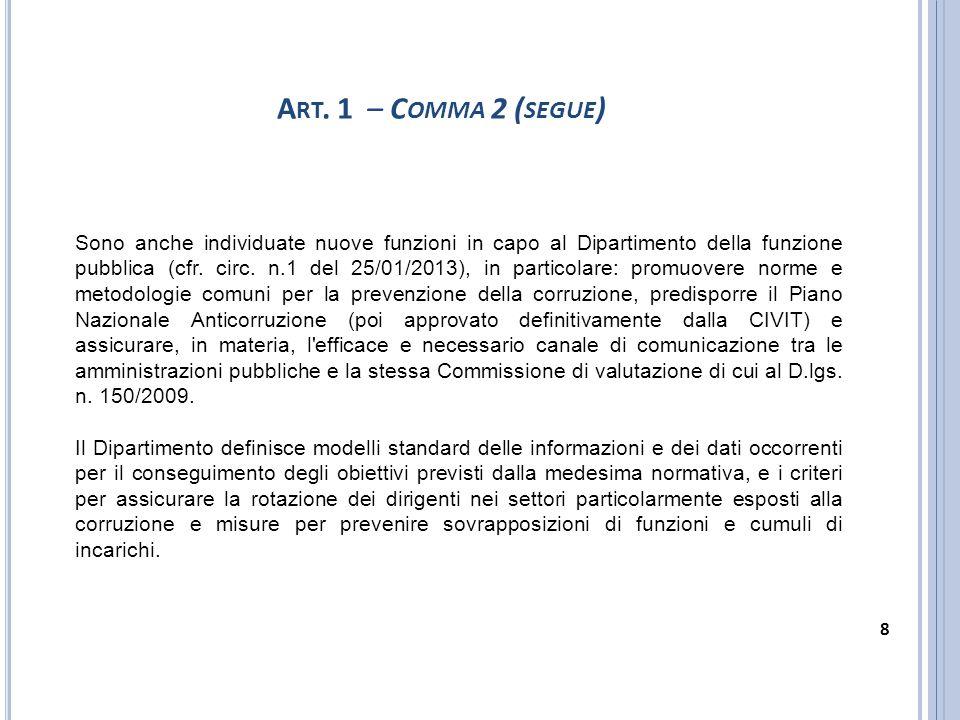 Art. 1 – Comma 2 (segue)