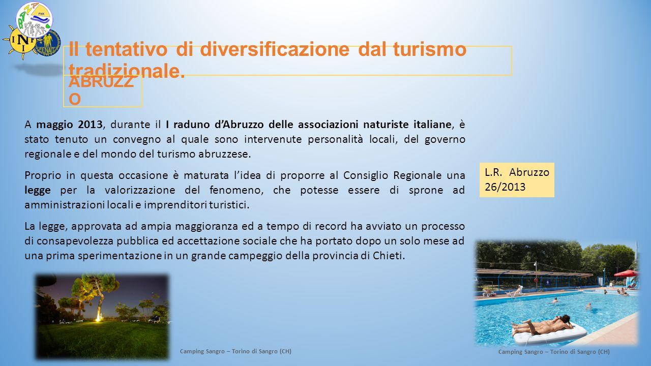 Il tentativo di diversificazione dal turismo tradizionale.