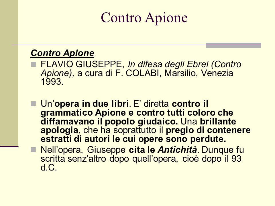 Contro Apione Contro Apione