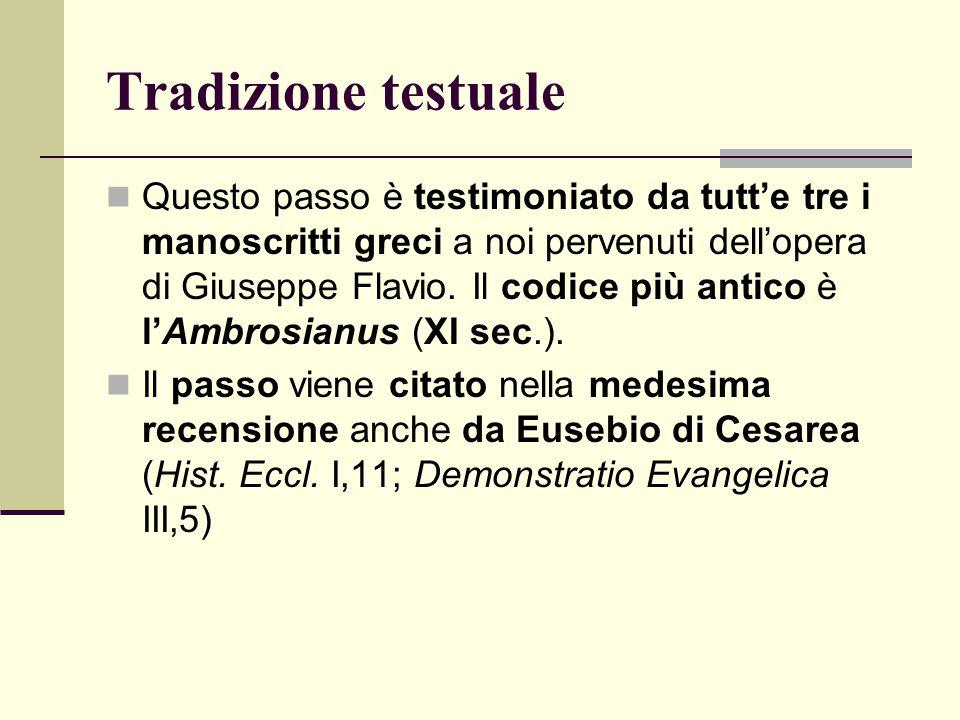 Tradizione testuale
