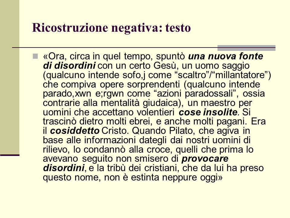 Ricostruzione negativa: testo