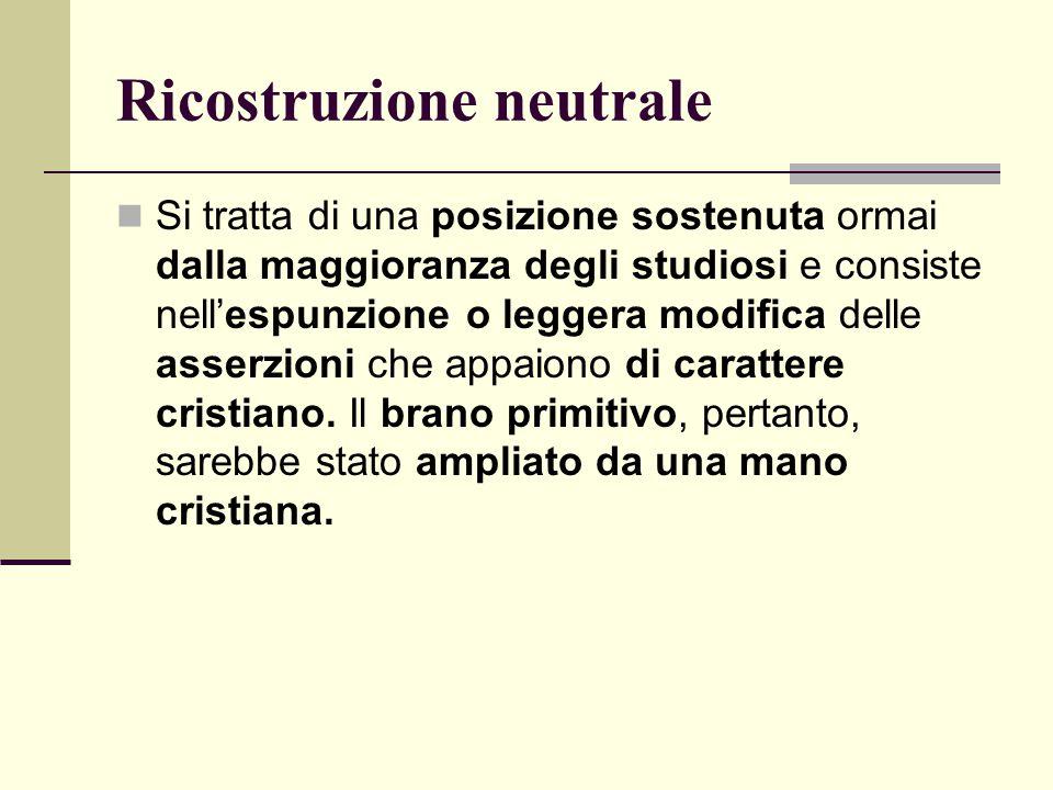 Ricostruzione neutrale