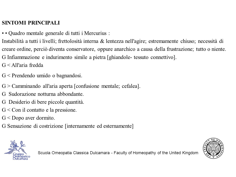 • • Quadro mentale generale di tutti i Mercurius :